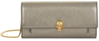 Alexander McQueen Metallic Skull Wallet Bag