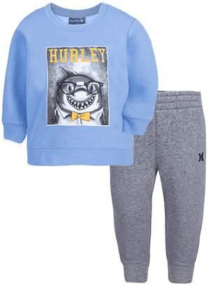 Hurley Baby Boy Shark Sweatshirt & Pants Set