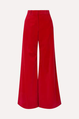 Bella Freud Bianca Cotton-corduroy Wide-leg Pants - Red