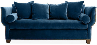 Hickory White Missy Sofa - Denim Velvet