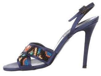 Stella McCartney Satin Embellished Sandals