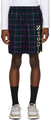 Alexander Wang Purple Plaid Pyjama Shorts