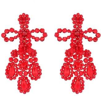 Simone Rocha Crystal-beaded earrings