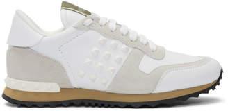 Valentino White Garavani Rockstud Sneakers