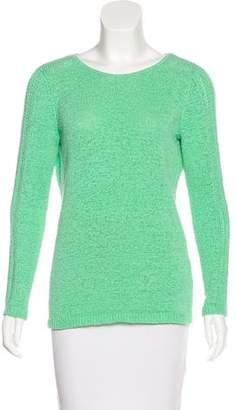Rachel Zoe Open Knit Crew Neck Sweater