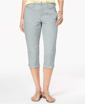 Style&Co. Style & Co Zipper-Pocket Capri Pants, Created for Macy's