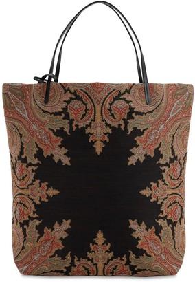 Etro Cotton Blend Jacquard Tote Bag