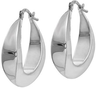 Italian Gold Graduated Hoop Earrings, 14K