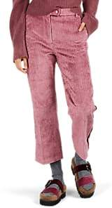 Moncler 2 1952 Women's Corduroy Crop Flared Trousers - Pink