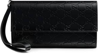 Gucci Signature travel document case $920 thestylecure.com