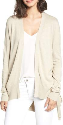 Chelsea28 Ruched Side Cardigan
