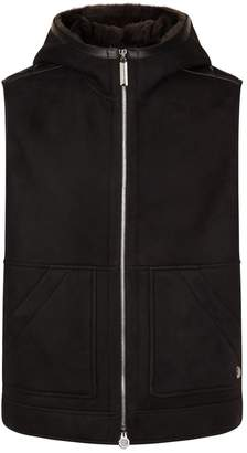 Stefano Ricci Hooded Shearling Gilet