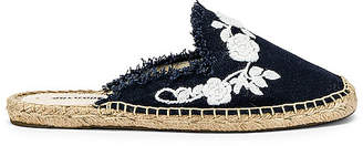 Soludos Frayed Floral Mule