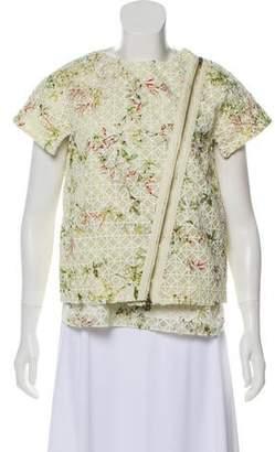 Giambattista Valli Embroidered Asymmetrical Jacket Set