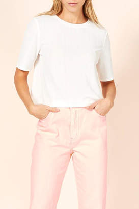 MinkPink Ribbed Cropped Tee