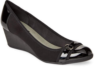 AK Anne Klein Sport Black Toffee Sport Wedge Pumps