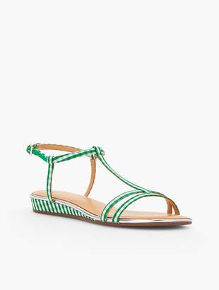 Talbots Daisy Micro-Wedge Sandals - Gingham