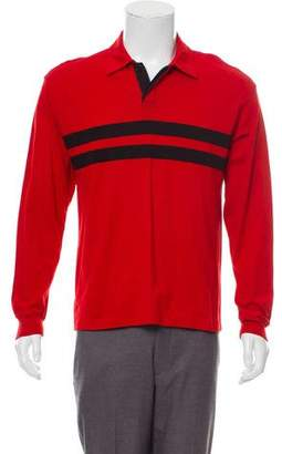 Dries Van Noten Long Sleeve Polo Shirt