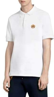 Burberry Pique Polo With Embroidered Crest