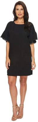 Vince Camuto Ruffle Sleeve Drop Shoulder Two-Pocket Dress Women's Dress