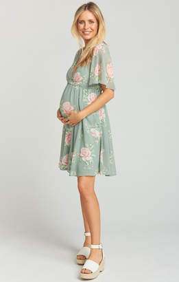 Show Me Your Mumu Baby Shower Dress ~ Sweetheart Sage