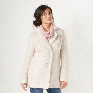 Women's LC Lauren Conrad Faux-Fur Coat $90 thestylecure.com