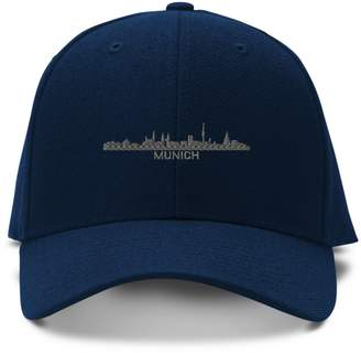 Munich Speedy Pros City Skyline Embroidery Embroidered Adjustable Hat Cap
