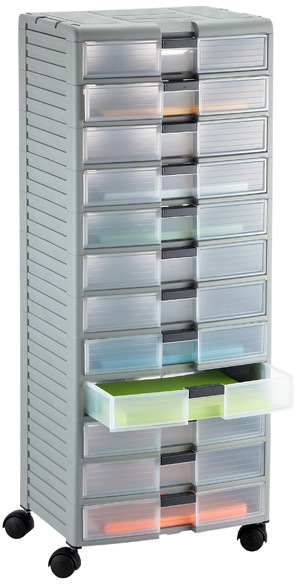 Container Store 12-Drawer Storage Chest Grey