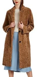 Barneys New York Women's Shearling Long Coat - Lt. brown