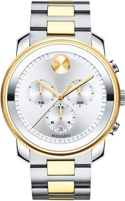 Movado Bold Two Tone Chronograph Watch, 44mm