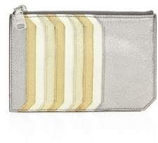 Miu Miu Miu Miu Madras Multicolor Leather Card Case