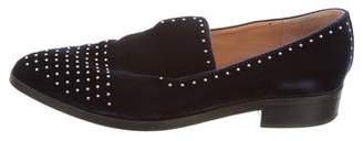 Sigerson Morrison Embellished Velvet Loafers