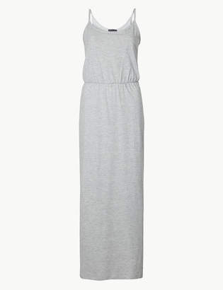 Marks and Spencer Pure Cotton Waisted Maxi Dress