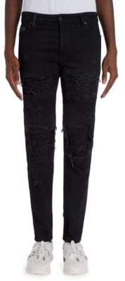 Marcelo Burlon County of Milan Biker Distressed Slim-Fit Jeans