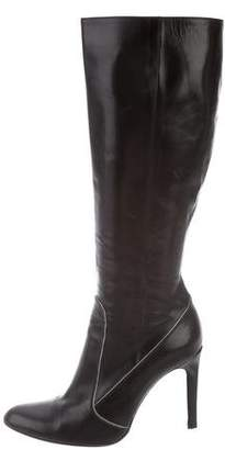 Rene Caovilla Leather Knee-High Boots