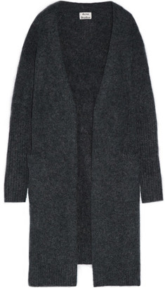 Acne Studios - Raya Oversized Knitted Cardigan - Storm blue $430 thestylecure.com