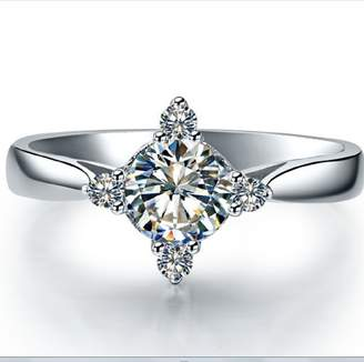 Chandra Diamond Jewelry Wedding Wear 0.50cts Real Diamond Studded White Gold Ring In 14K