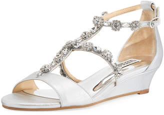 Badgley Mischka Terry II Metallic Suede Sandal