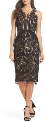 Harlyn V-Neck Lace Cocktail Dress