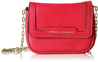 Armani Exchange A|X Pebbled Faux Leather Crossbody