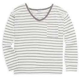 Splendid Girl's Stripe Long-Sleeve Top
