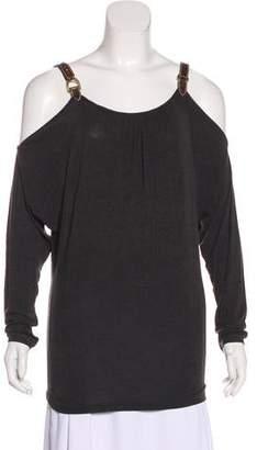Ralph Lauren Cold-Shoulder Long Sleeve Top w/ Tags