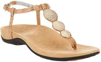 Vionic Orthotic T-strap Sandals w/ Ankle Strap - Lizbeth