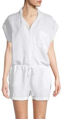 Young Fabulous & Broke Jacobson Linen-Blend Romper