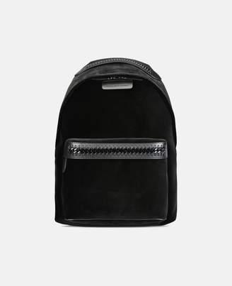 Stella McCartney black velvet falabella go backpack
