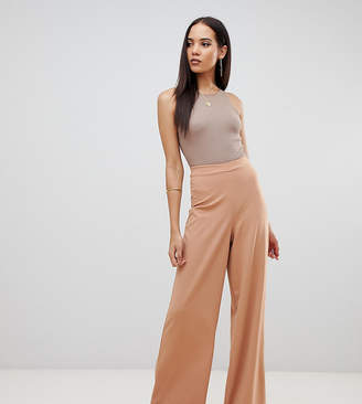 Missguided Tall exclusive tall wide leg trouser in camel