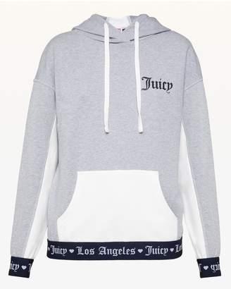 Juicy Couture JXJC Logo Colorblock Terry Hoodie