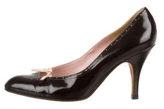 Marni Leather Pointed-Toe Pumps