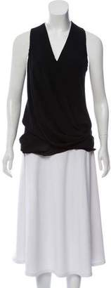Helmut Lang Sleeveless Asymmetrical Tunic