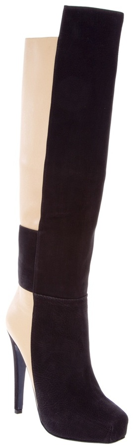 Aperlaï two tone knee-high boots